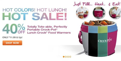 Crock-pot lunch crock