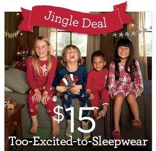 Gymboree holiday pajamas.