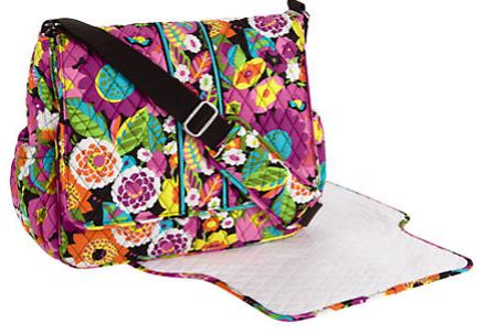 Vera bradley messenger baby bag