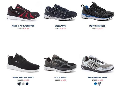 Fila $25 shoes