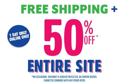 Children's place 50% off and free shipping