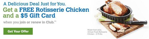 Sam's club membership free chicken