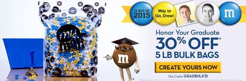 M&Ms graduation personalized