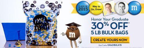 M&Ms graduation personalized
