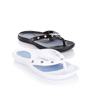 Tony Little Cheeks® Healthy Lifestyle Sandal - 2 Pair, 2 Styles with 1-Year Self Magazine