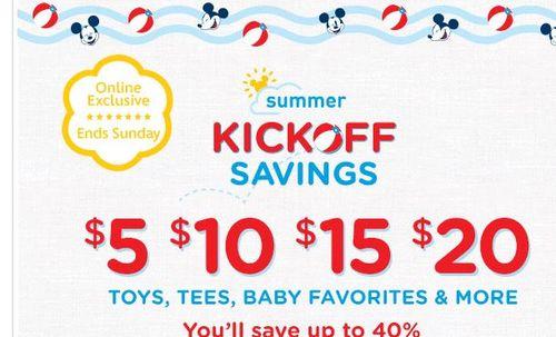 Disney store summer favorites sale