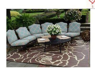 Barbara King Bloom Reversible Outdoor Mat By PatioMats
