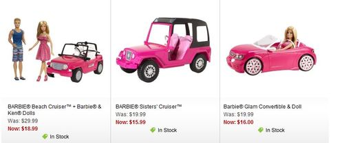 Barbie cars