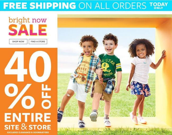 Carter's FREE Shipping on ALL orders Plus 40% off Entire Site