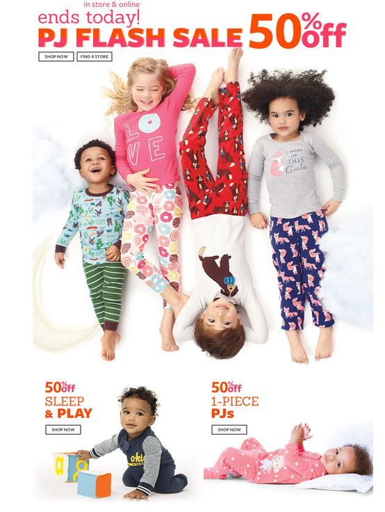 Carter's 40% off + Free Shipping on ALL Orders + Flash Sale on Pajamas - Today ONLY
