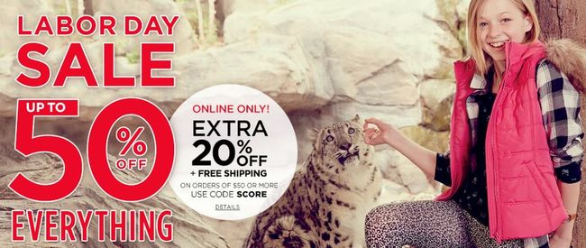 P.S. from Aeropostale Labor Day Sale - Extra 20% off + Free Shipping on $50