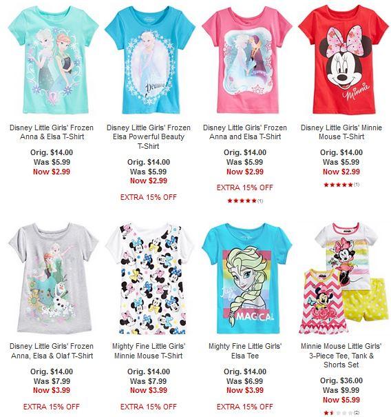 Disney tees macy's sale