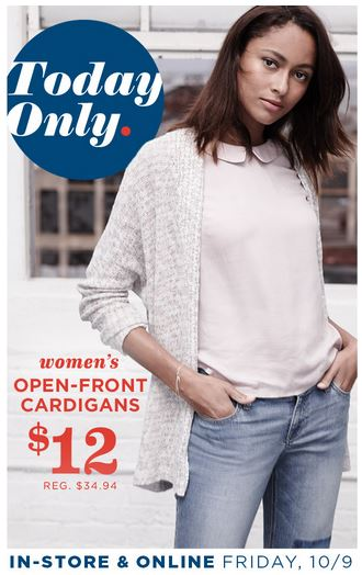 Old navy open front cardigans