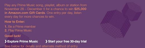 Amazon prime music contest