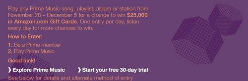 Amazon prime music contest