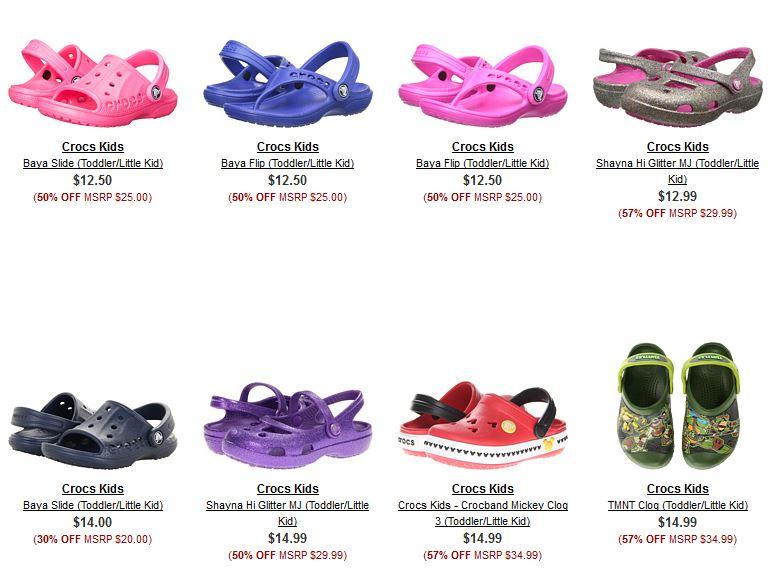 Crocs kids on sale at 6pm