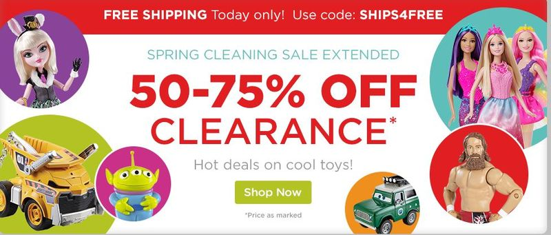 Mattel free shipping
