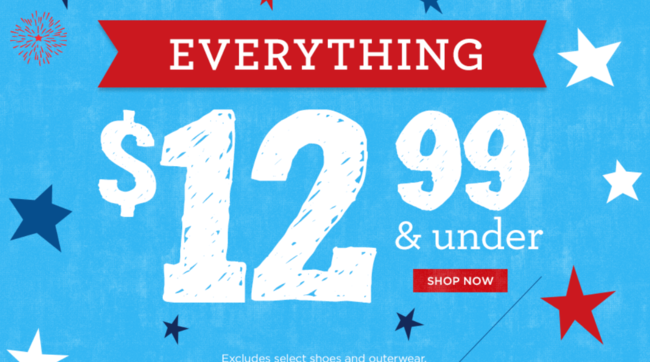 Gymboree Free Shipping on ALL orders + Everything $12.99 and Under