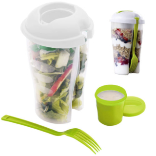 Salad to go container set
