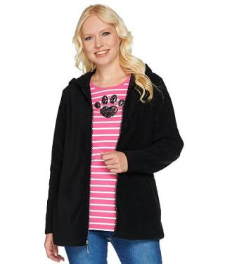 Quacker factory shirt and fleece jacket