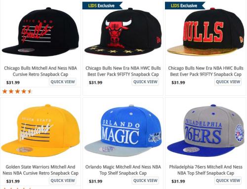 Lids nba hats $10