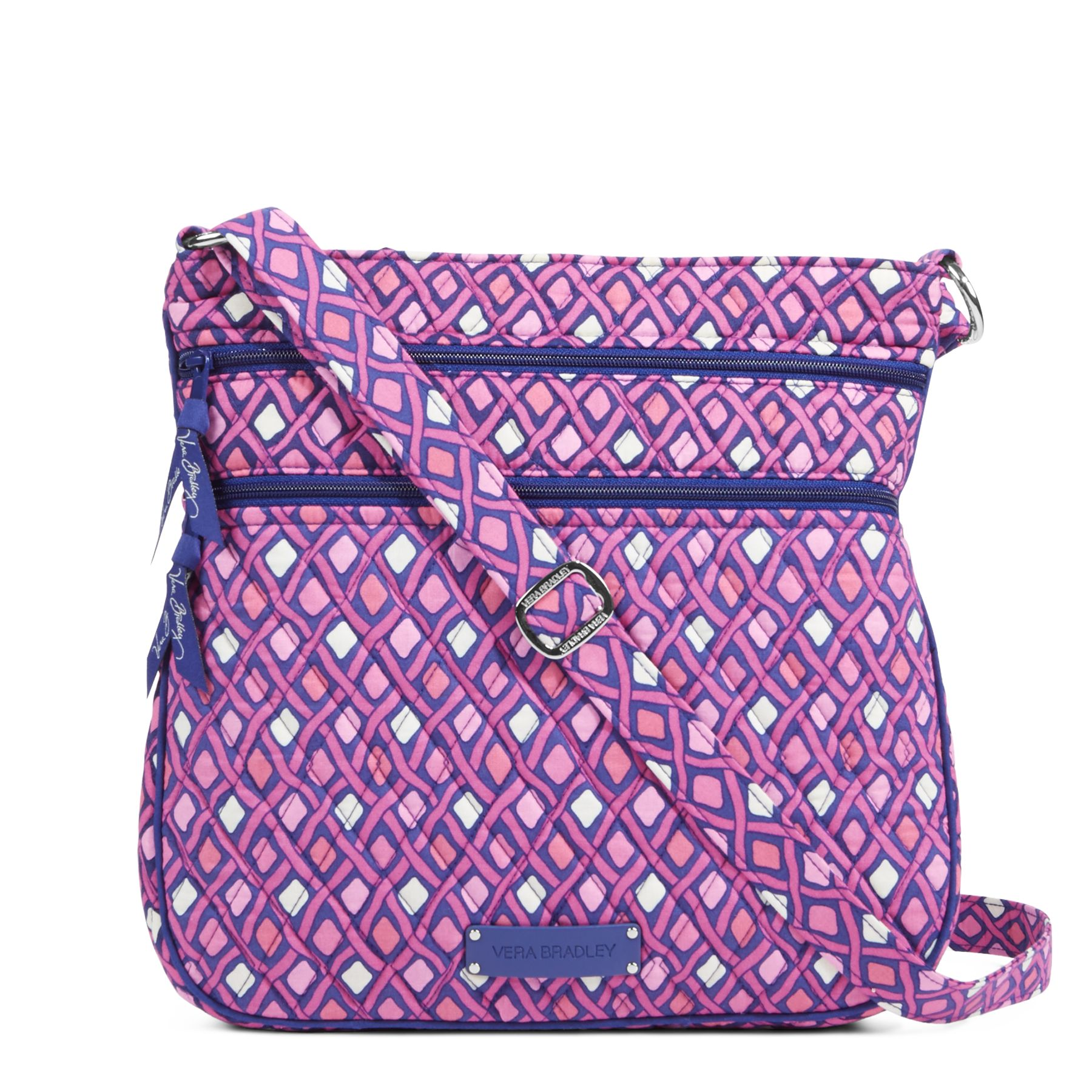 Vera bradley triple zip hipster crossbody bag 5e6a3854675f4