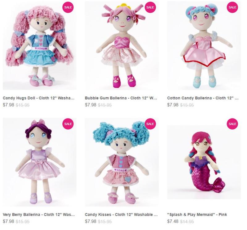 Madame alexander plush dolls