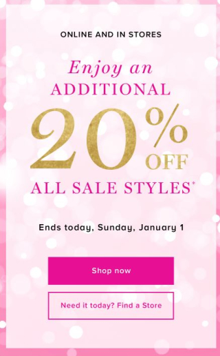 Vera bradley new year's sale