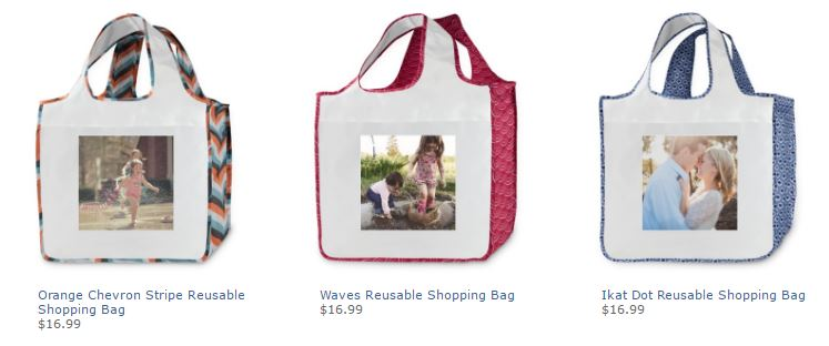 Shutterfly free reusable shopping bag