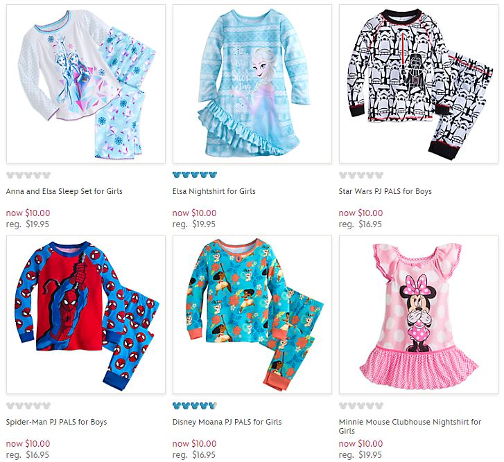 Disney Store Sleepwear $10