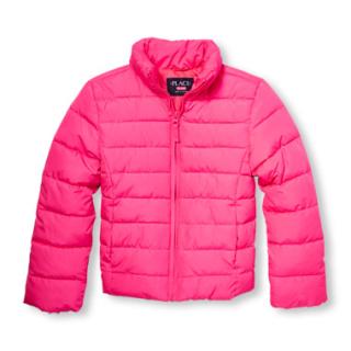 Children's place girls puffer jacket