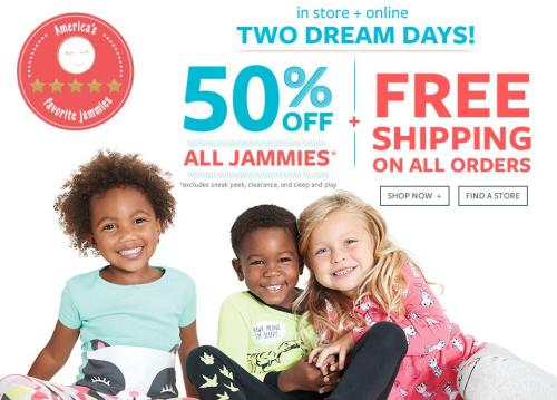 Carter's pajamas bogo free shipping