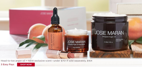 Josie maran whipped argon oil butter full face and body set