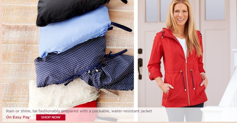 uk cheap sale new style of 2019 new arrive Free S&H! Shop the Susan Graver Water Resistant Packable ...