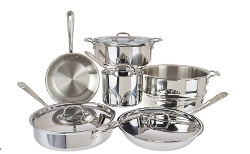 All clad tri ply 10 piece cookware set