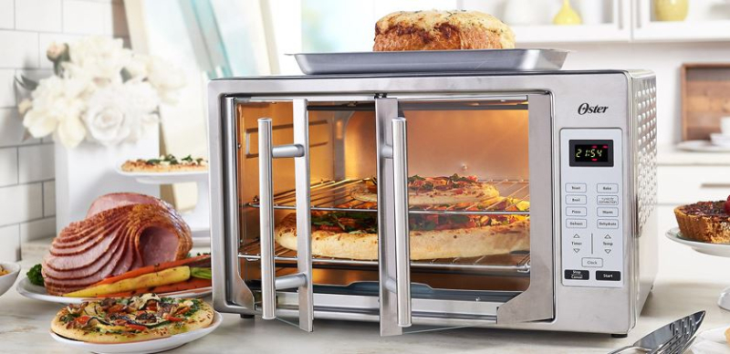 Exclusive Colors! Shop the Oster XL Digital Countertop Convection Oven with French Doors