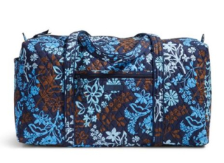 Vera bradley large duffle travel bag