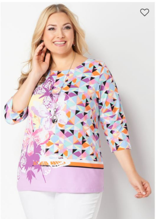 Christopher and banks prismatic butterfly printed tee