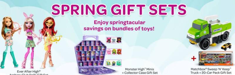 Mattel gift sets easter
