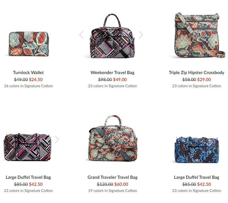 Vera bradley free shipping sale stores
