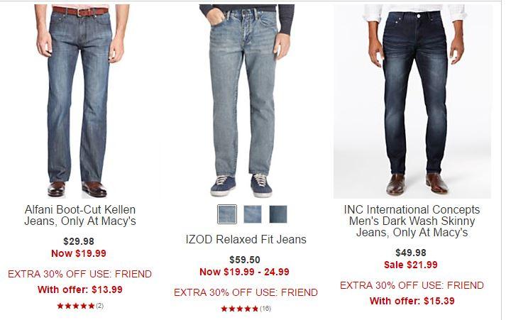 Macy's men's jeans
