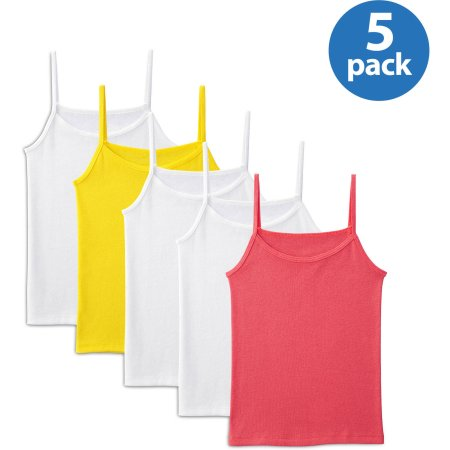 Fruit of the Loom Girls' Wear Two Ways Spin Cami 5 Pack