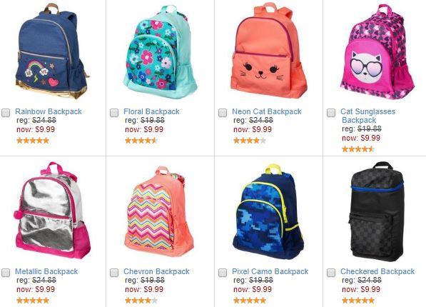 Crazy 8 backpacks