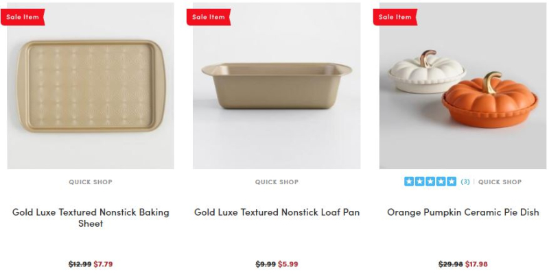 World market bakeware 40% off