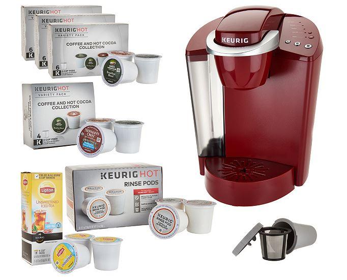 Keurig K55 Coffee Maker w My K-Cup 31 K-Cup Pods & Water Filters