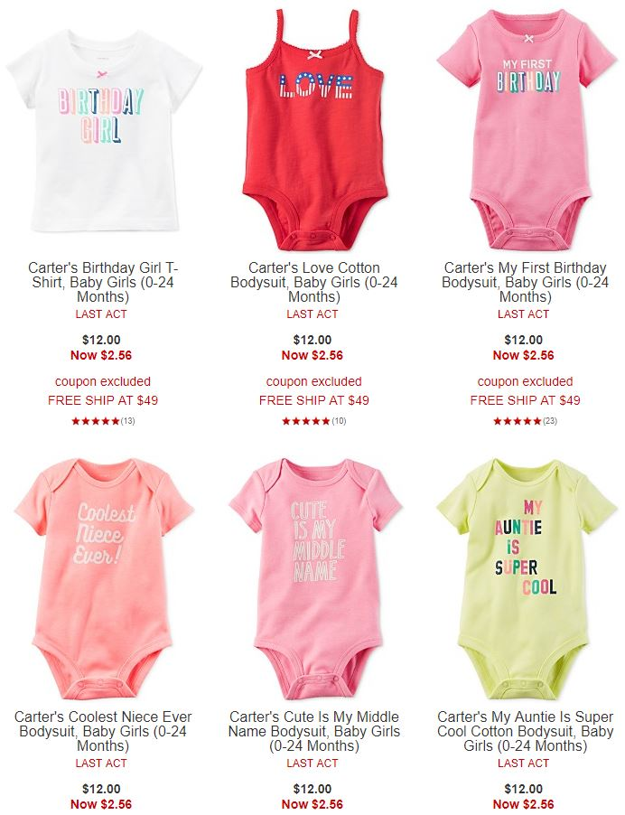 Carter's onesies at macy's