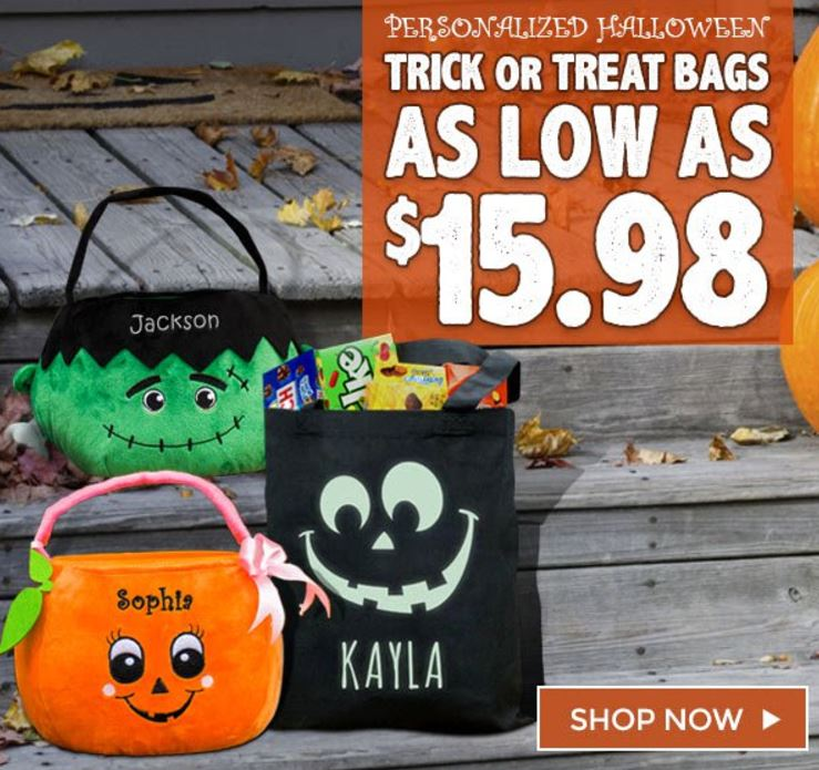Personalized halloween bags and totes