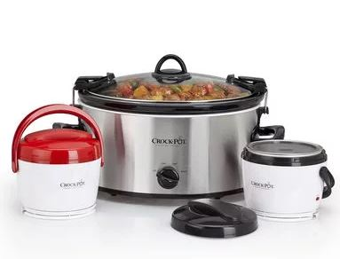 Crock pot slow cooker on the go set