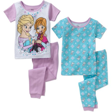 Frozen Toddler Girl's Licensed Cotton 4-piece Set