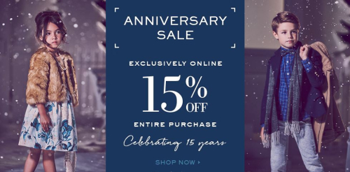 Janie and jack anniversary sale
